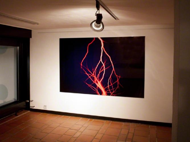 Christian Block Fotografie | Roter Blitz | Golf von Bengalen, 2008 | Ausstellung Galerie Idelmann Gelsenkirchen 2010